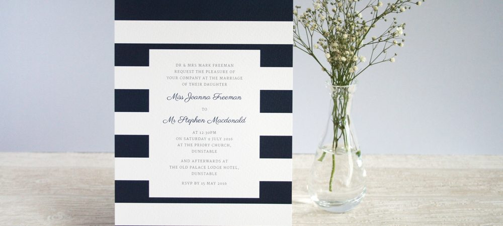 Behind the scenes – wedding invitations