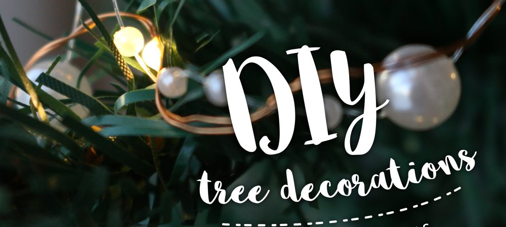 DIY tree decorations – #12daysofchristmas Day 1