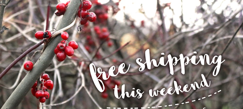 Free shipping this weekend – #12daysofchristmas