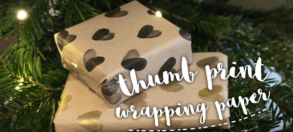 DIY wrapping paper – #12daysofchristmas Day 5